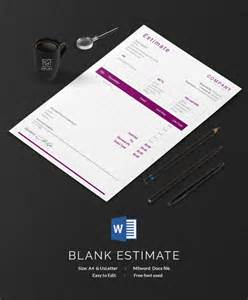 Free Estimate Template Word by Blank Estimate Template 23 Free Word Pdf Excel