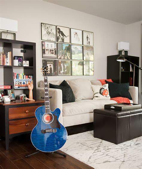living room music musician s music row condo in nashville contemporary