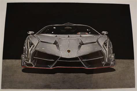 Lamborghini Veneno Front by Drawing Lamborghini Veneno Lamborghini Car