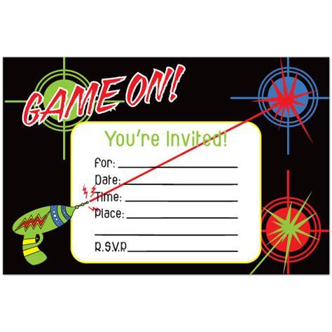 laser tag invitation template omg invitation