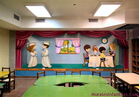 preescolares murales infantiles decoraciones