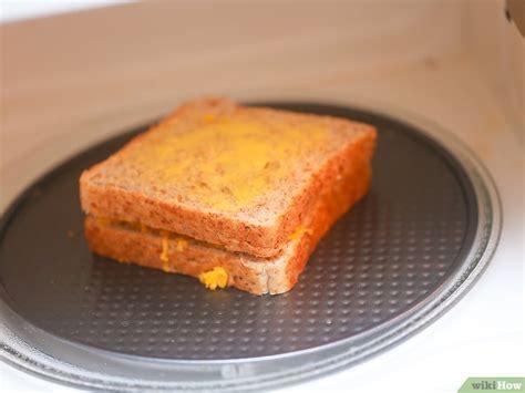 cara membuat roti bakar dengan gambar 3 cara untuk membuat roti panggang keju dengan oven microwave