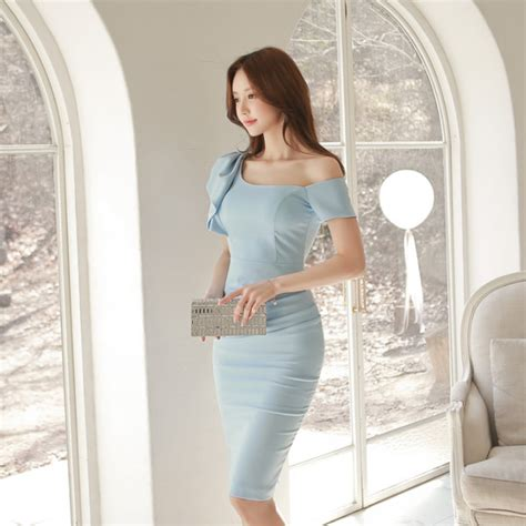 boat neck pencil dress wholesale boat neck one shoulder slit pencil dress