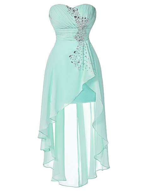 Dress Mesya turquoise strapless front back bridesmaid dress