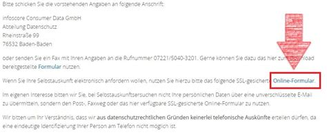 Arvato Infoscore Selbstauskunft sch 246 n lassen sie anfordern formularvorlage zeitgen 246 ssisch