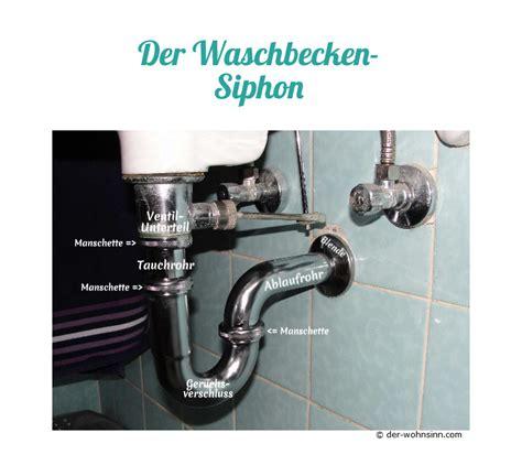 siphon austauschen verstopfter abfluss am waschbecken der wohnsinn