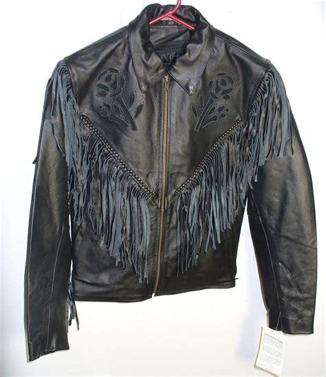 black leather jacket with fringe ladies black leather jacket with fringe side lace roses