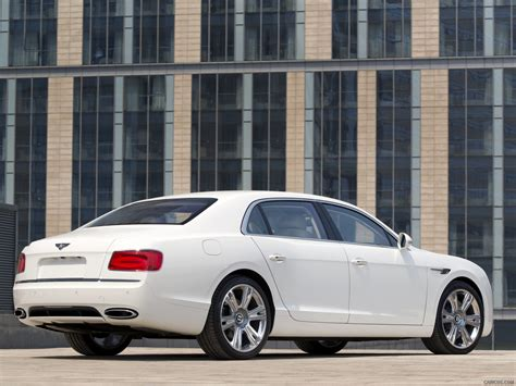 white bentley back 2014 bentley flying spur glacier white rear hd