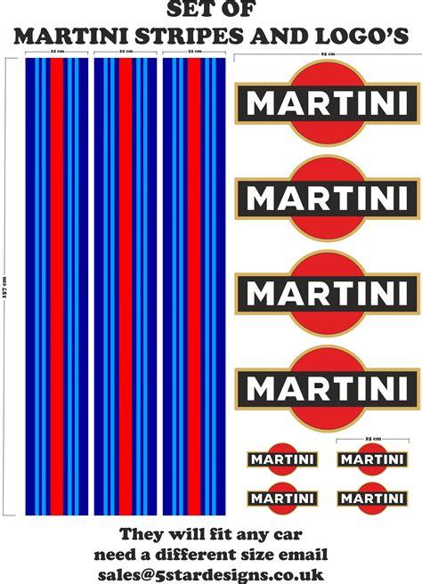 Martini Racing Design Aufkleber by Le Mans Martini Stil Racing Streifen Und Logo Set