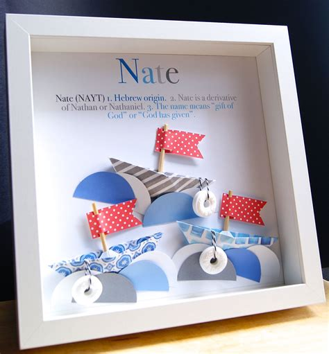 Baby Shower Origin by Personalized Name Origin And Meaning Paper Boats Nautical