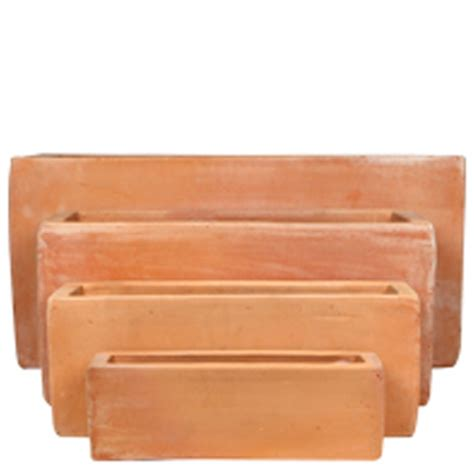 Rectangular Terracotta Planters by Tuscan Path 54cm Terracotta Staight Trough Pot Bunnings Warehouse