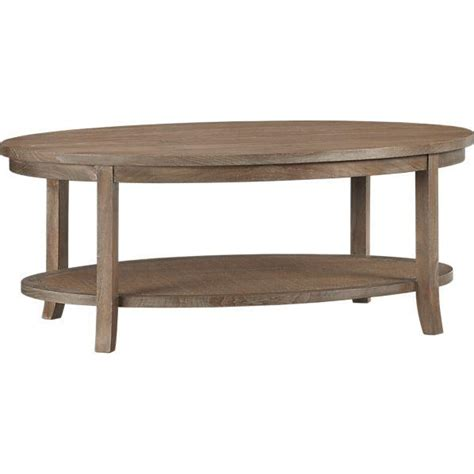grey wash oval coffee table crate and barrel