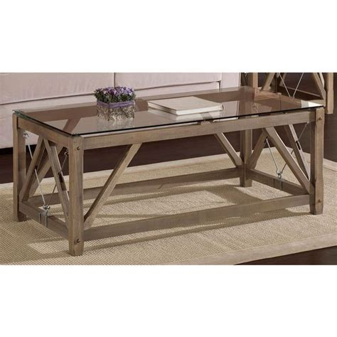 Rustic Glass Coffee Table Cable Coffee Table By I Living Cable Rustic Contemporary And So