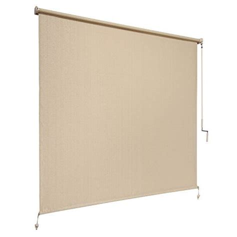 Exterior Roller Shades Coolaroo Exterior Cordless Roller Shade 8ft By 6ft Sesame