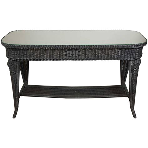 wicker sofa table black wicker sofa table for sale at 1stdibs