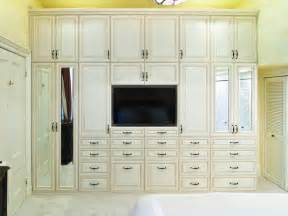 Traditional Bathrooms Designs wardrobe amp media unit with antique white glazed rtf fronts