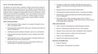 medical assistant job description for doctor health care - Dietary Aide Resume