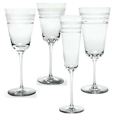 kate spade barware kate spade new york by lenox library stripe stemware