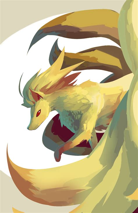 ninetails lines by sulfura on deviantart how would pokemon look like if they were part of monster