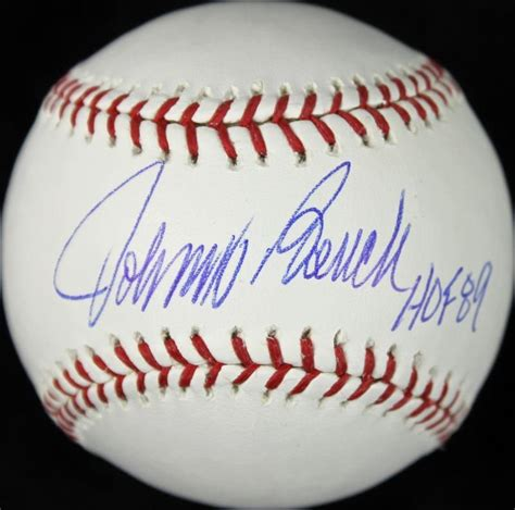 Johnny Bench Autographed Baseball johnny bench card and memorabilia guide