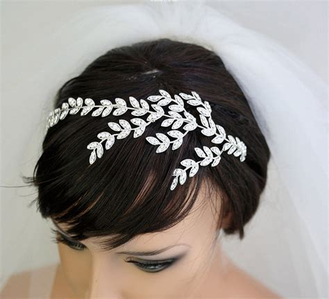 accessories etsy this rhinestone crystal leaves tiara 165 has the making