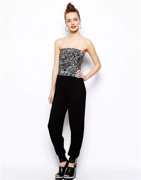 Jumpsuit Instyel 2in1 new look new look 2in1 printed jersey jumpsuit at asos