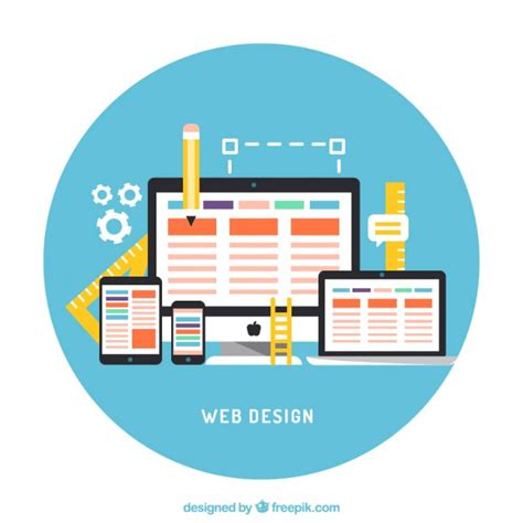 scaricare web gratis schermi piatti con elementi web scaricare vettori gratis
