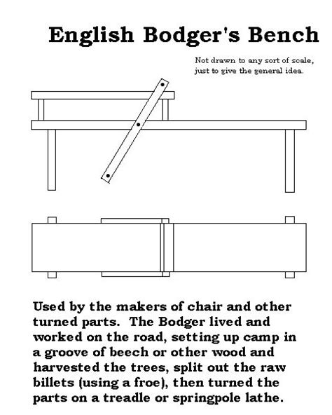 bodgers bench bodger s bench plan