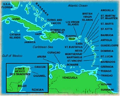 map of caribbean with country names place your cursorover an island s name and click it