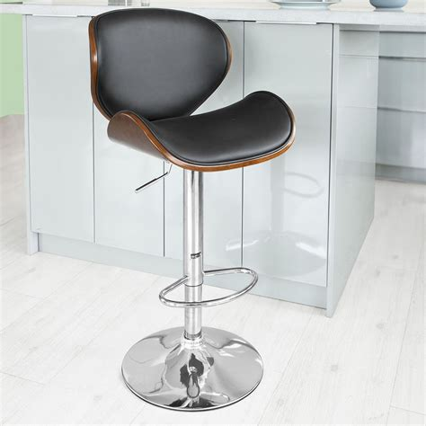 Breakfast Bar Stool Uk by Sobuy 174 Modern Bentwood Padded Kitchen Breakfast Bar Stool Chair Fst22 Sch Uk Ebay