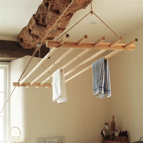 Hanging Laundry Rack by Ceiling Clothes Dryer Traditional Drying Racks By