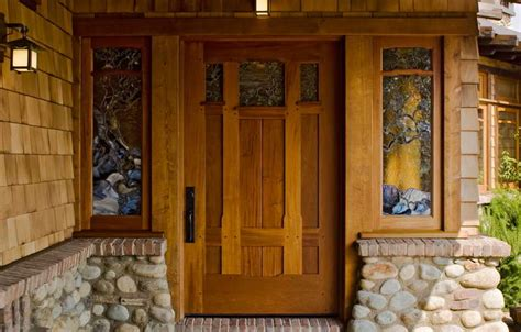 Arts And Crafts Entry Door Exterior Craftsman Front Door The Harmoniousness Of