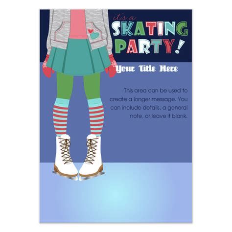 skating invitation template free skating invitations cards on pingg