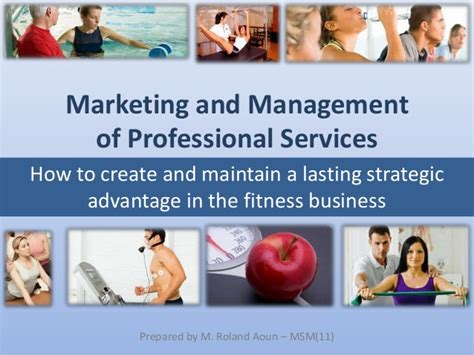 thesis project marketing professional services fitness sports