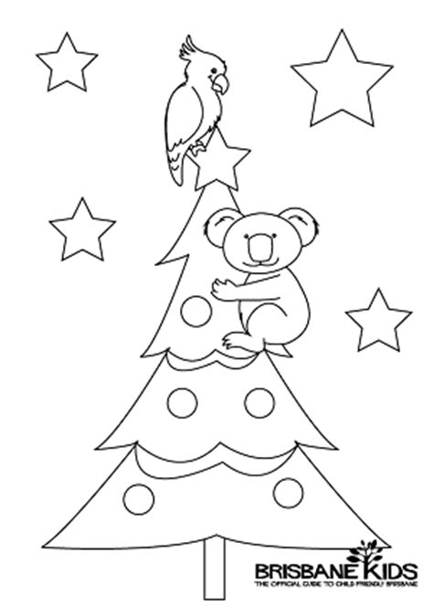 Christmas Koala Coloring Page | christmas colouring sheets themed with australian animals