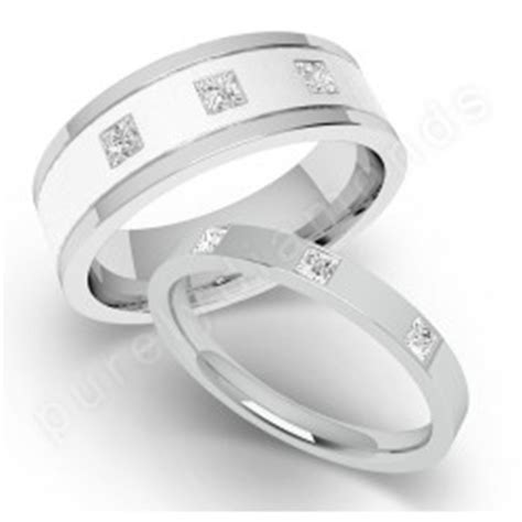 Spotlight on His & Hers Wedding Rings 18ct. White Gold