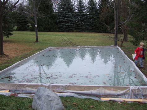 how to make a backyard skating rink backyard ice rink rake outdoor furniture design and ideas