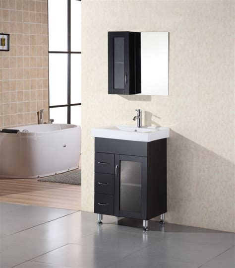 Modern Single Bathroom Vanities 24 Inch Modern Single Sink Bathroom Vanity With Ceramic Sink Uvde02224