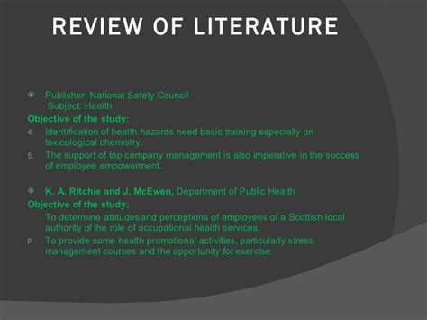 Alleviating Stress With Humour A Literature Review by Literature Review On Occupational Stress