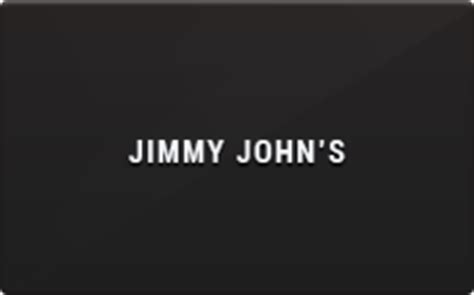Jimmy Johns Gift Card - jimmy john s gift card discount 5 00 off