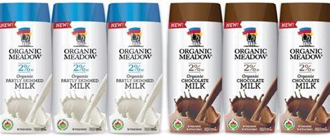 Organic Milk Longer Shelf by Organic Meadow Launches Canada S Organic Shelf