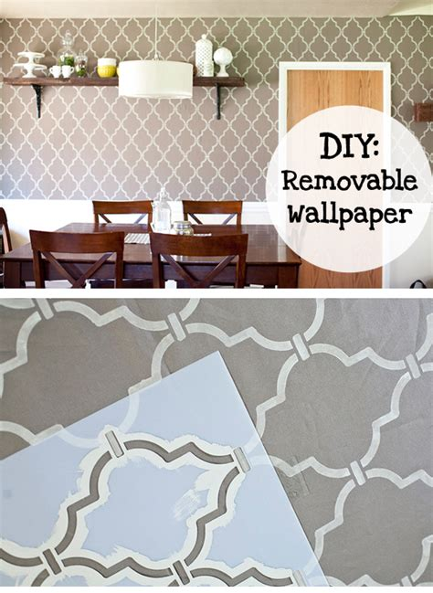 removable wallpaper for renters diy removable wallpaper