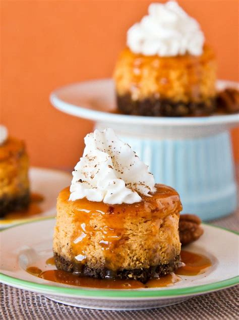 pumpkin cheesecake minis with gingersnap crust canned pumpkin and pumpkin pie spice give