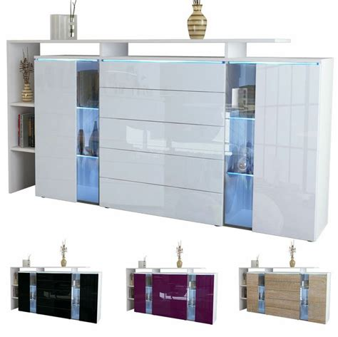 New High Gloss White Modern Sideboard Buffet Cabinet Details About Modern Highboard Sideboard Buffet Cabinet