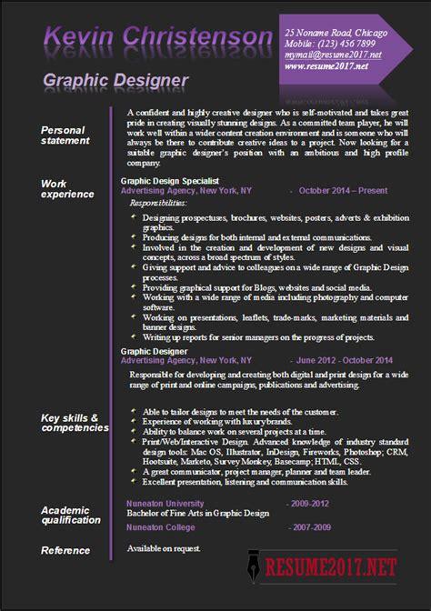 Resume Design 2017 graphic designer resume exles 2017