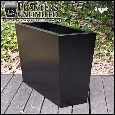 modern tapered commercial planters plantersunlimited