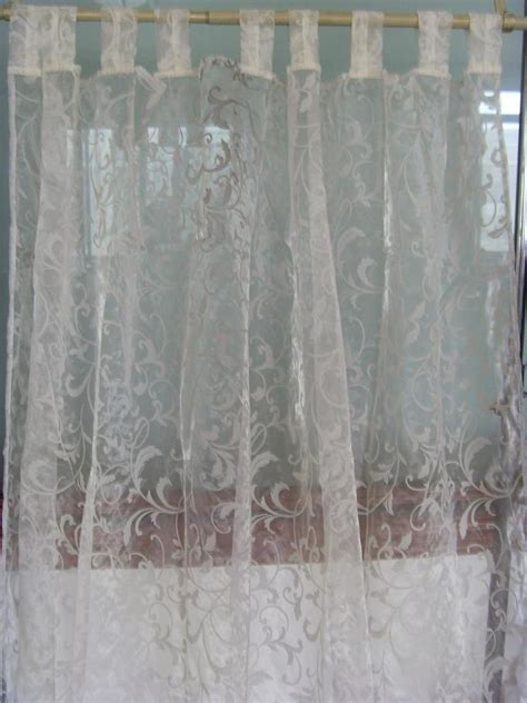 China Flocked Organza Curtain China Organza Curtain