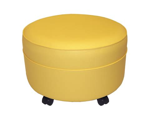 round yellow ottoman wholesale bulk dropshipper yellow vinyl round extra