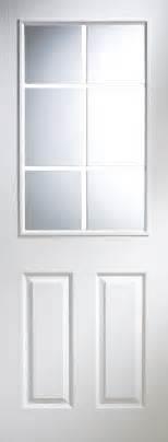 Pre Painted White Interior Doors 6 Panel Primed Smooth Unglazed Door H 1981mm W