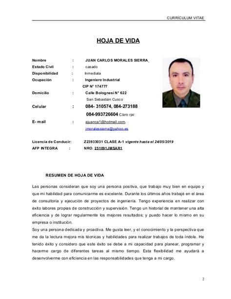 Plantilla De Curriculum Vitae 2015 Curriculum Vitae 2015 Ejemplos Plantillas O Formatos